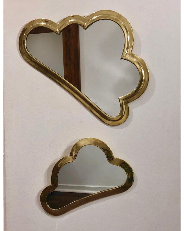 Miroir laiton nuage