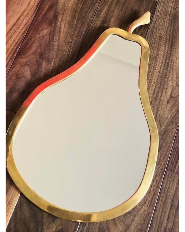 Miroir laiton poire maroc