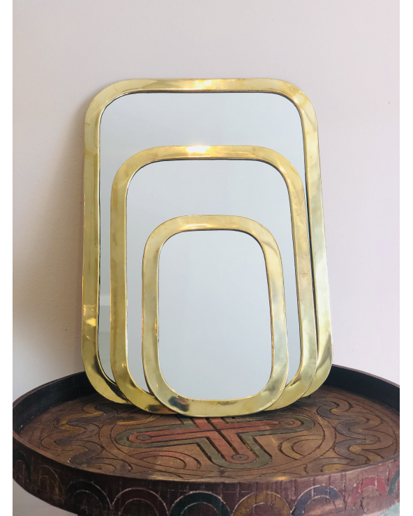 Miroir laiton rectangle maroc