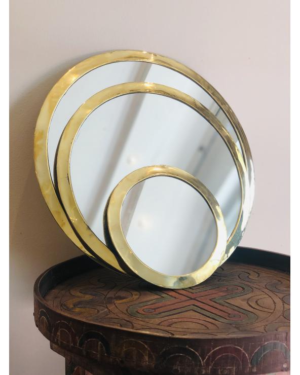 Miroir laiton rond