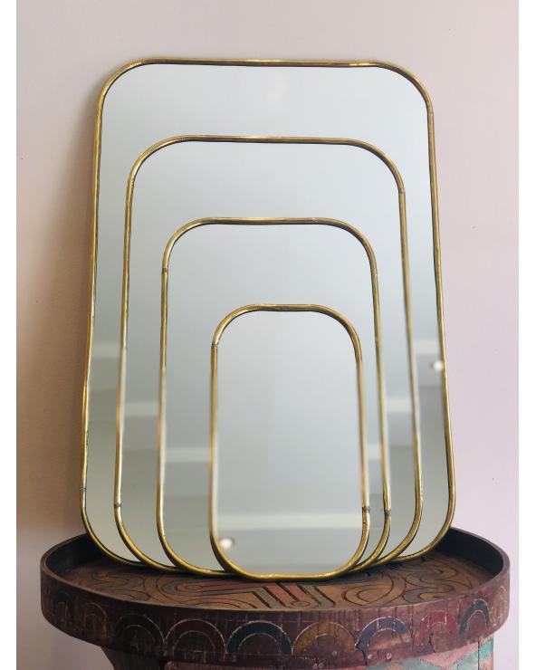 Miroir laiton carré 2