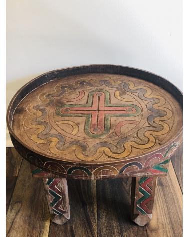 Table basse berbere bois
