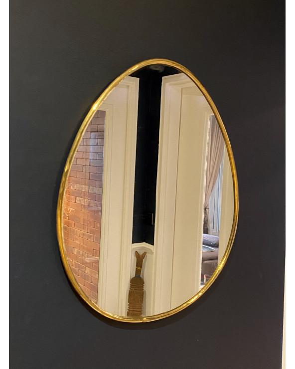 Miroir marocain en laiton forme oeuf