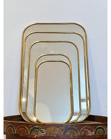 miroir marocain en laiton rectangle
