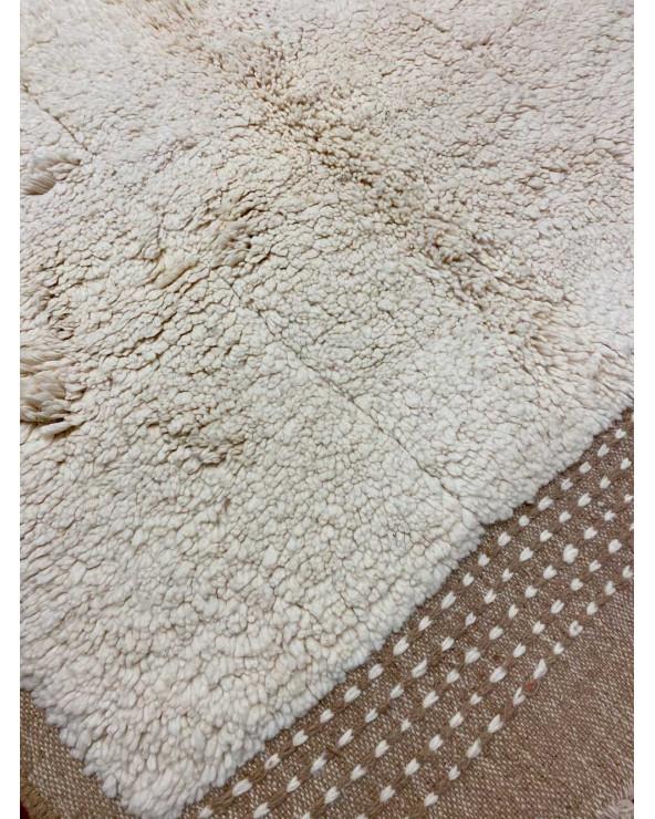 tapis beni ouarain beige