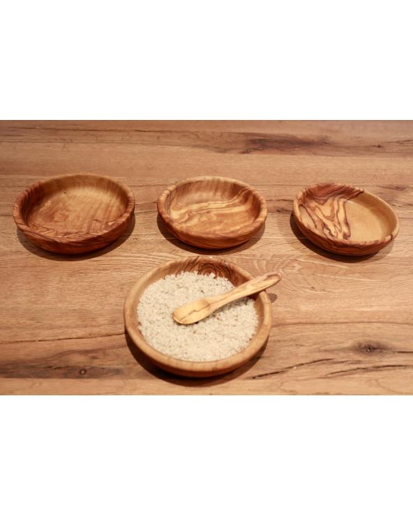 Bol rond en bois d'olivier