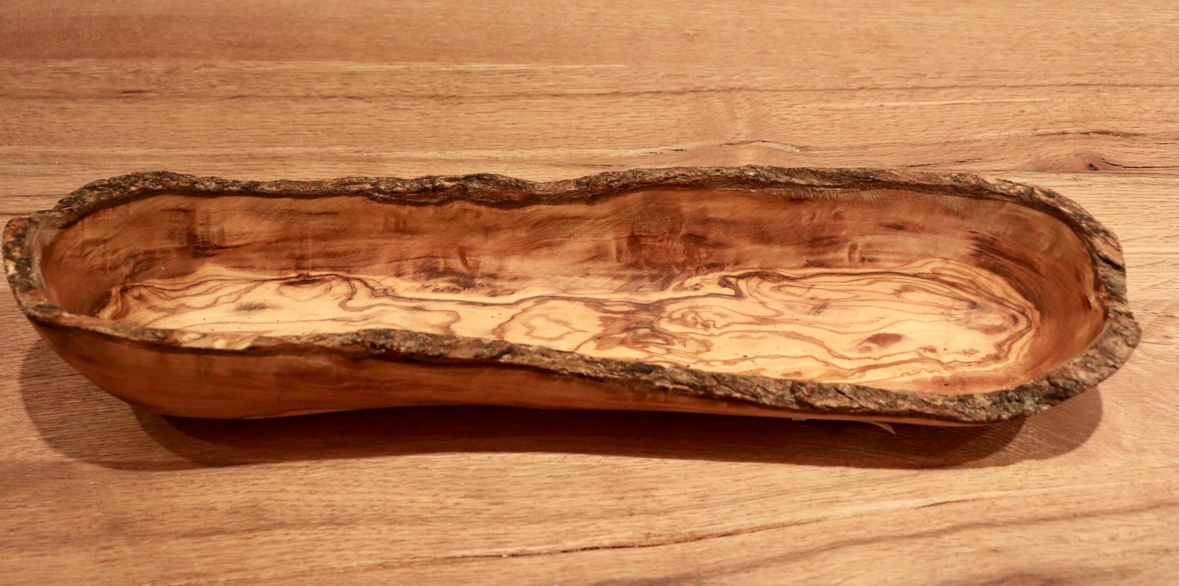 Panier à pain en bois d'olivier