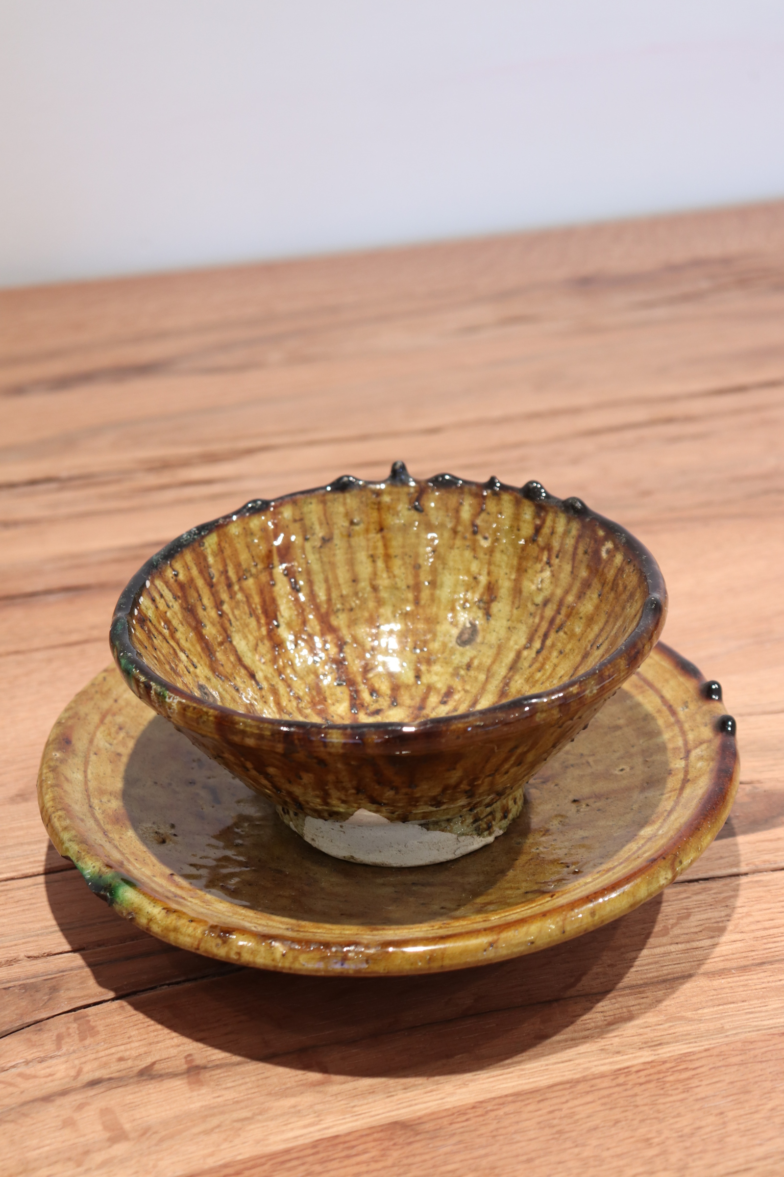 Bol+Assiette moutarde tamegroute Ø20cm