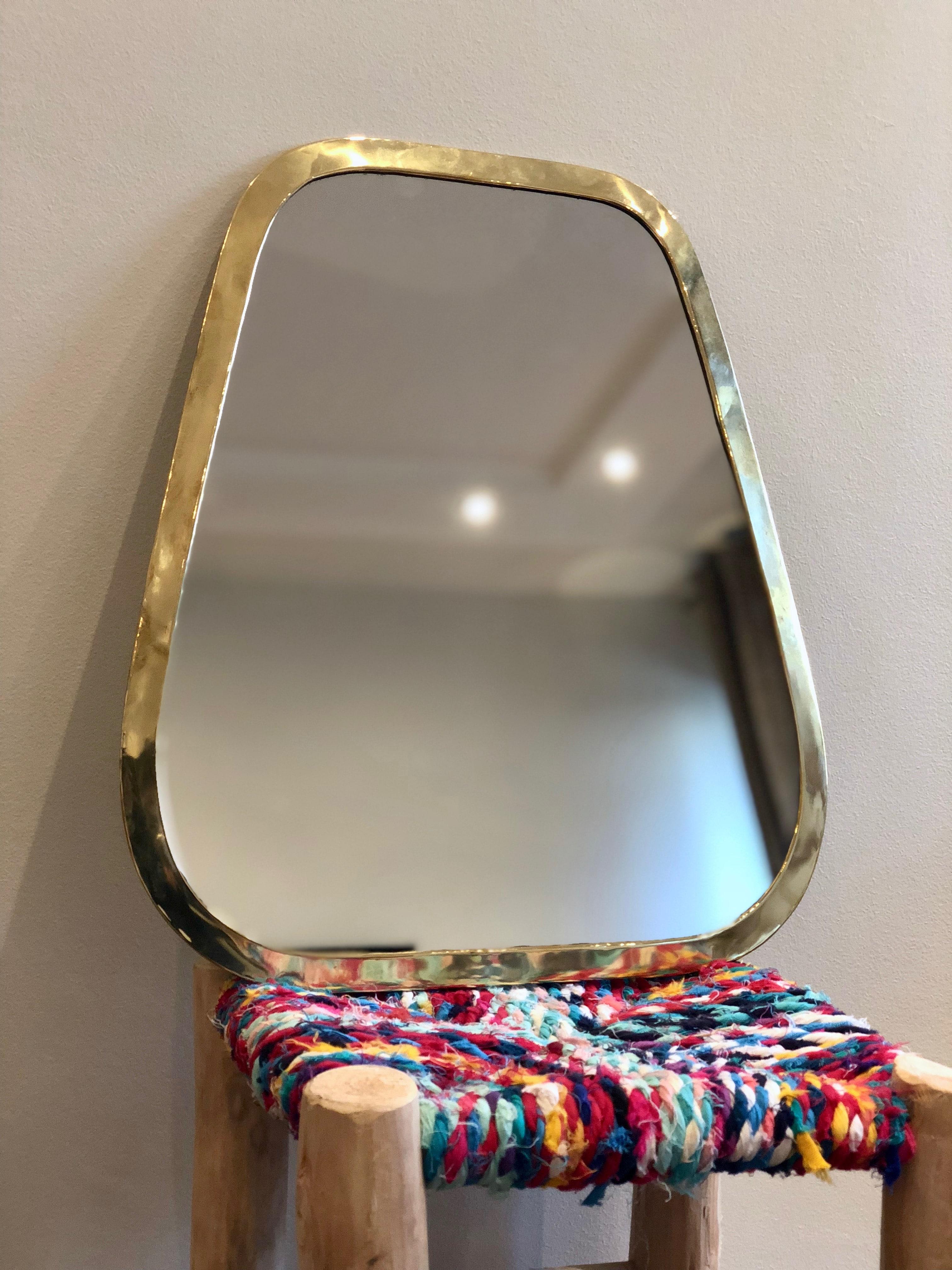 Miroir Trapèze laiton
