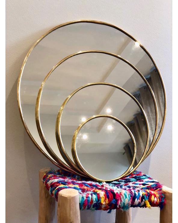 Miroir rond laiton