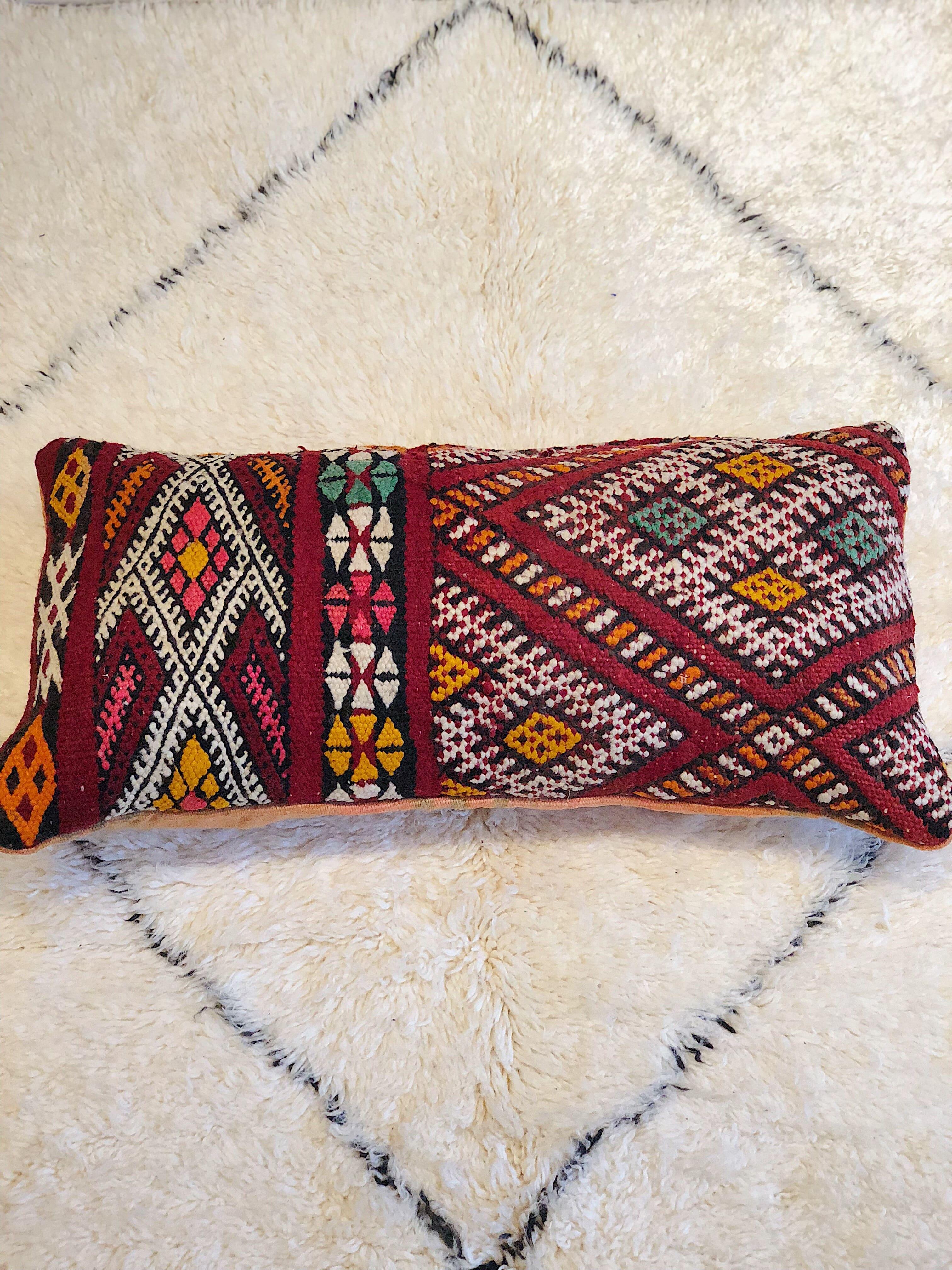 Coussin Kilim Marocain Fait A Partir De Tapis Kilim Marocain